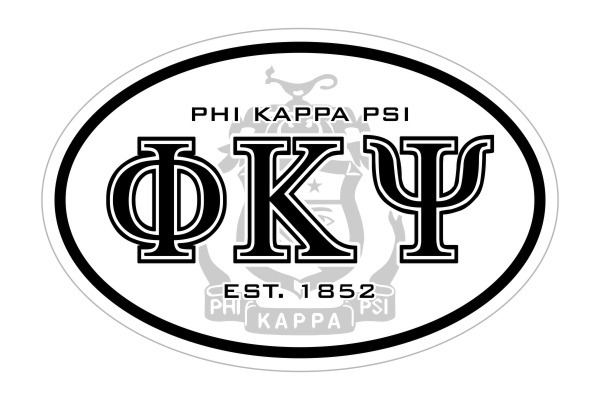 Phi Kappa Psi Oval Crest - Shield Bumper Sticker - CLOSEOUT