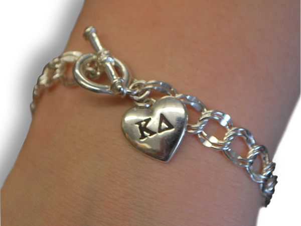 Sorority Heart Charm Bracelet
