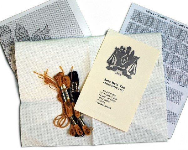 Sorority & Fraternity Cross Stitch Kits