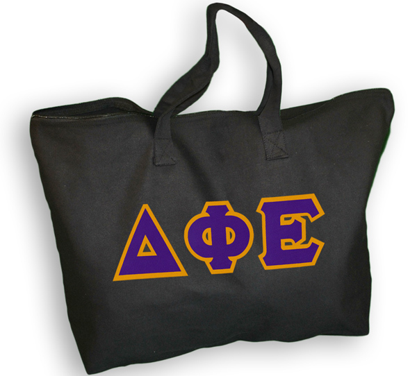 Hand Sewn Twill Sorority Tote Bag