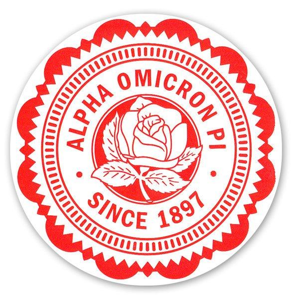 """5"""" Sorority Seal Bumper Sticker"""