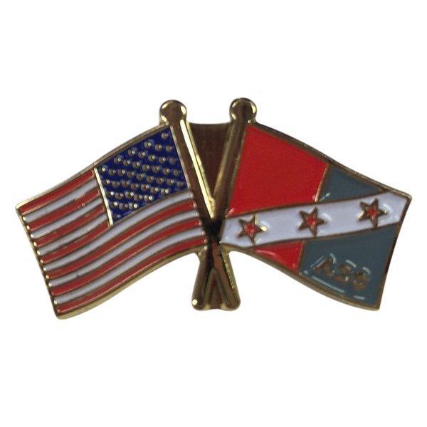 Alpha Sigma Phi USA Flag Lapel Pin