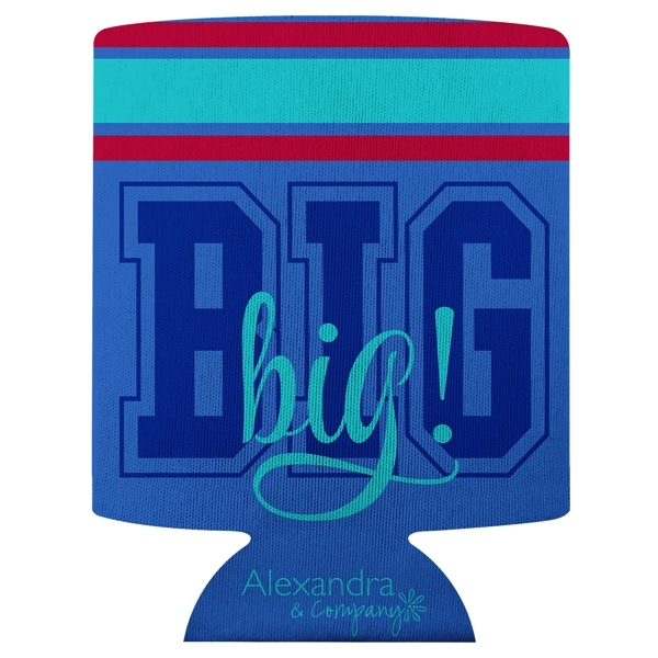 Big / Lil  Striped Can Cooler