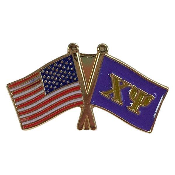 Chi Psi USA Flag Lapel Pin