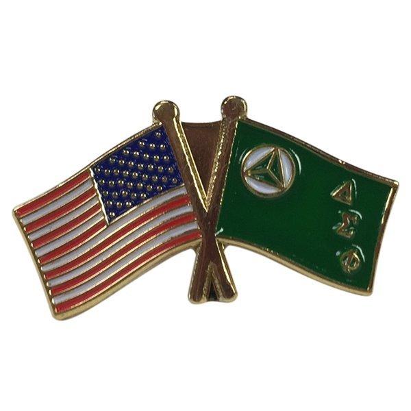 Delta Sigma Phi USA Flag Lapel Pin