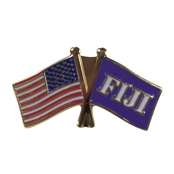 FIJI Fraternity USA Flag Lapel Pin