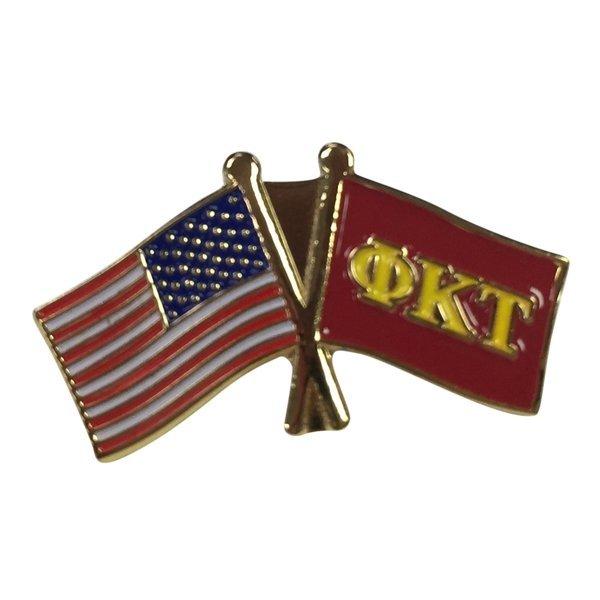 Phi Kappa Tau USA Flag Lapel Pin