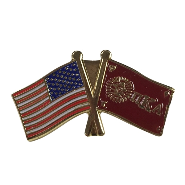 Pi Kappa Alpha USA Flag Lapel Pin