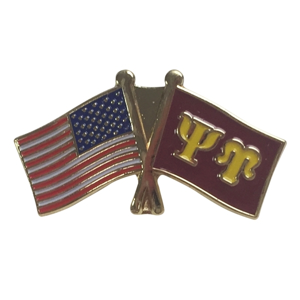 Psi Upsilon USA Flag Lapel Pin
