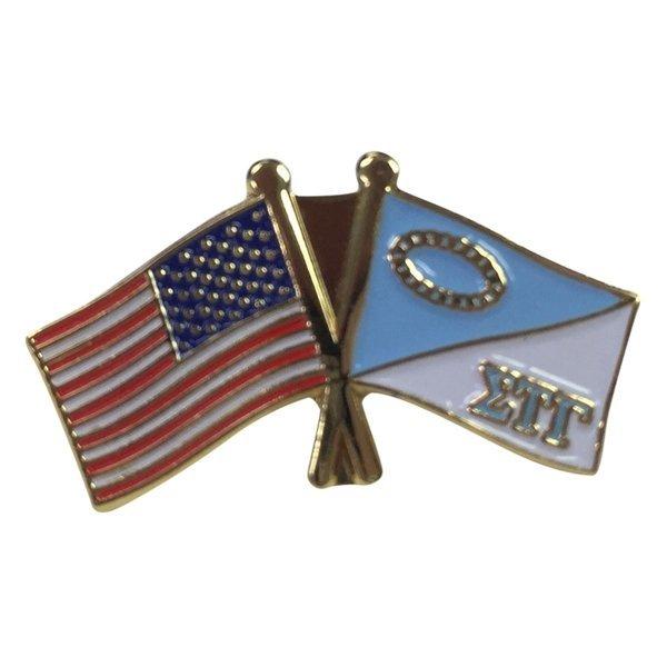 Sigma Tau Gamma USA Flag Lapel Pin