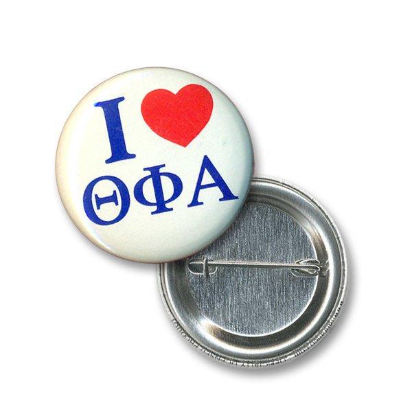 Theta Phi Alpha I Love Mini Sorority Buttons
