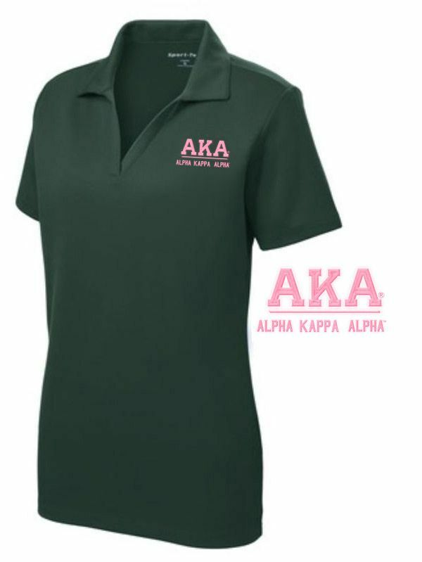 Alpha Kappa Alpha Greek Letter Polo Shirts