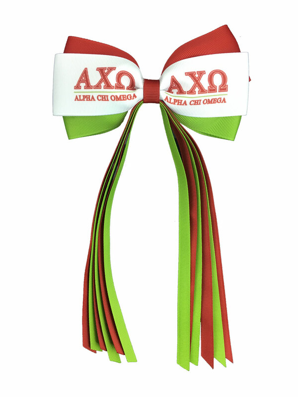 Alpha Chi Omega Streamer Bow