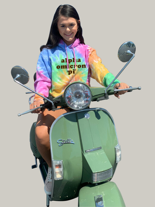 Alpha Omicron Pi Eternity Tie-Dyed Pullover Hood