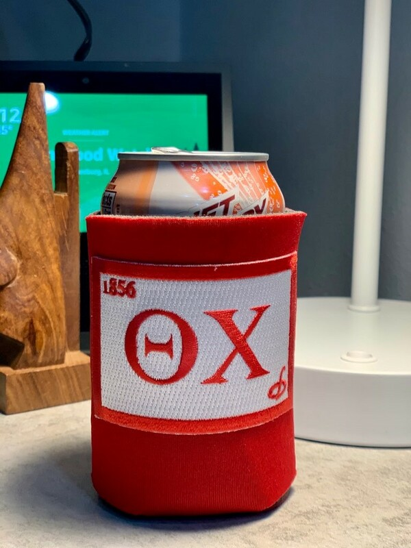 Fraternity Embroidered Flag Can Cooler
