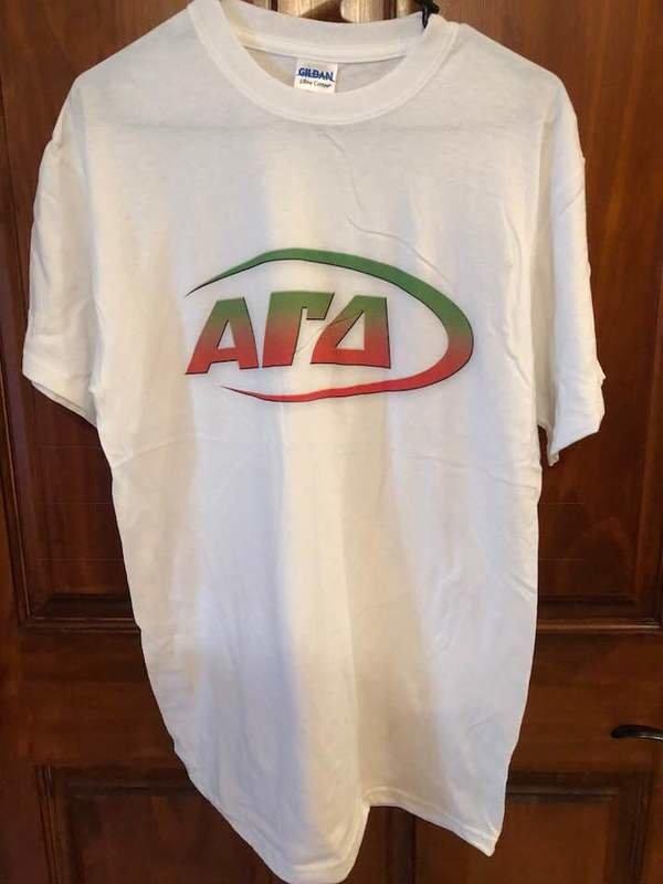 New Super Savings - Alpha Gamma Delta T-Shirt - WHITE