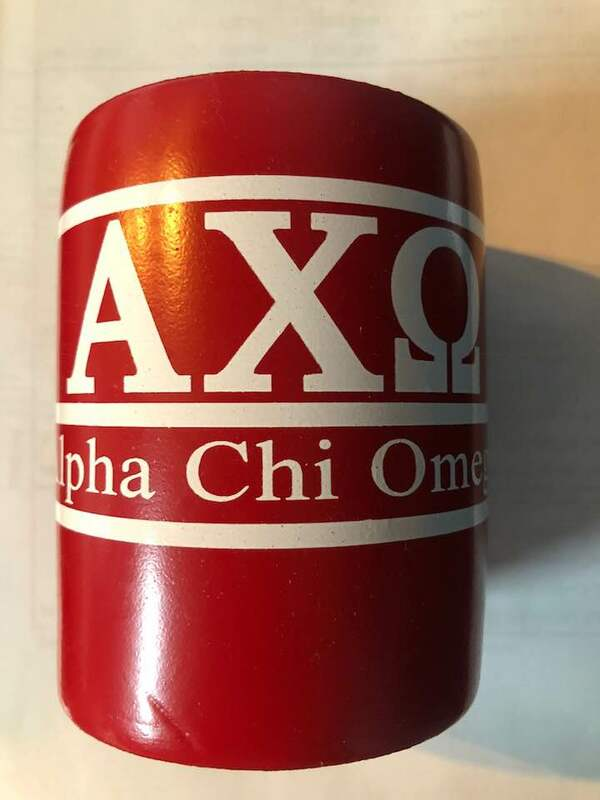 Super Savings - Alpha Chi Omega Can Cooler - RED 1 of 2