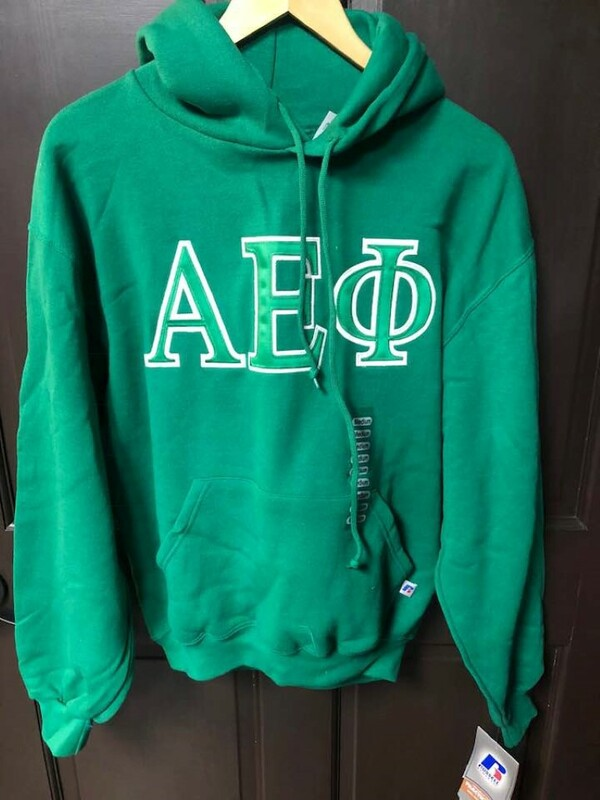 Super Savings - Alpha Epsilon Phi Hooded Sweatshirt - GREEN 1 of 2