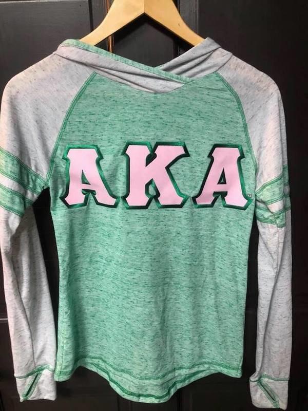 Super Savings- Alpha Kappa Alpha Advocate Lettered Hoodie - GREEN