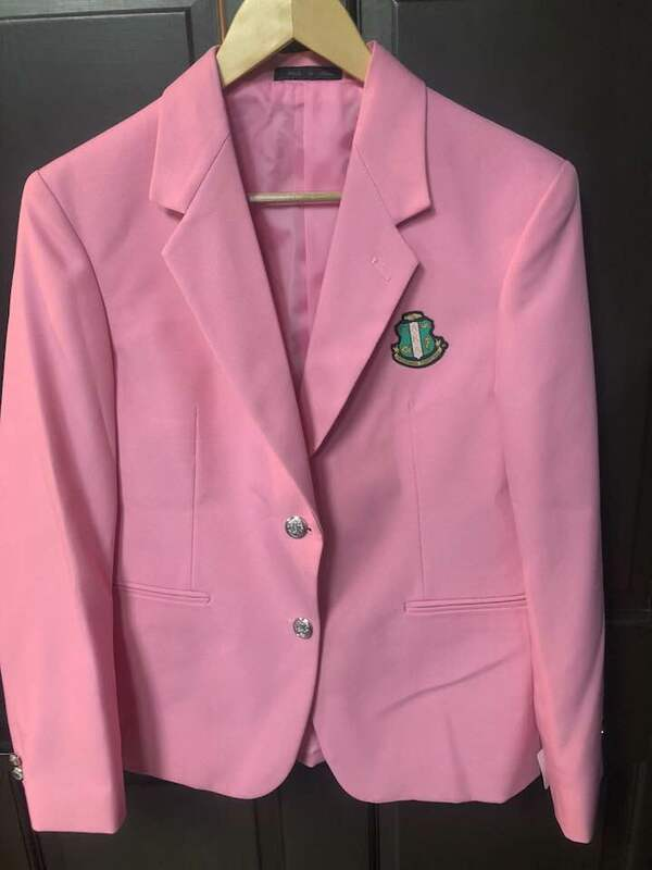 Super Savings - Alpha Kappa Alpha Crest - Shield Classic Blazer - PINK