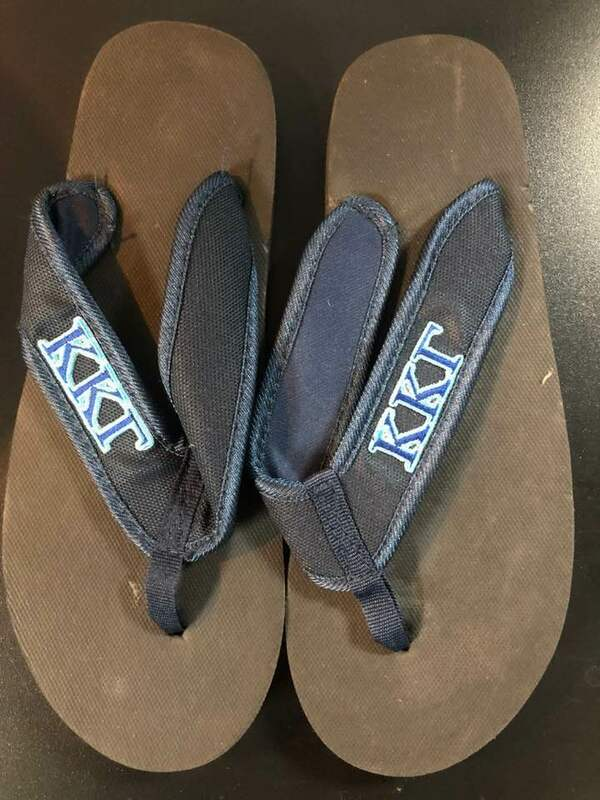993e238a1 Super Savings - Kappa Kappa Gamma Flip Flops - BLACK SALE  11.50 ...