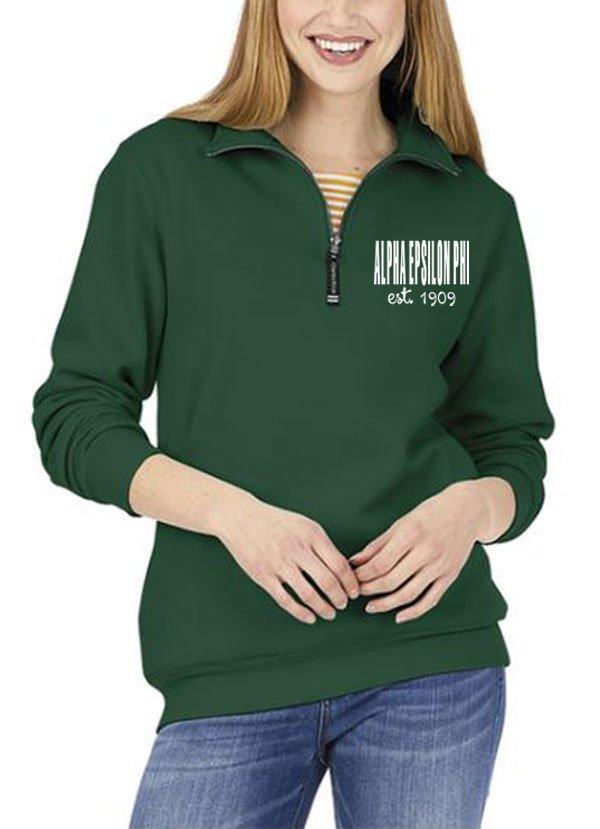 Alpha Epsilon Phi Established Crosswind Quarter Zip Sweatshirt