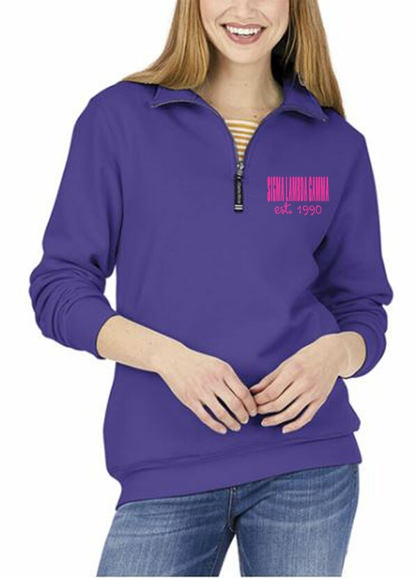 Sigma Lambda Gamma Established Crosswind Quarter Zip Sweatshirt
