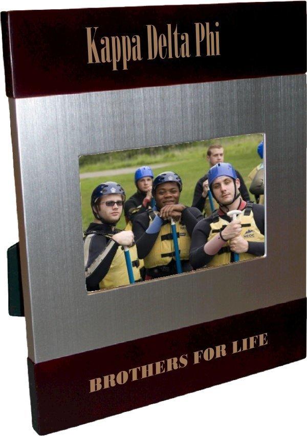 Kappa Delta Phi Brush Silver Frame