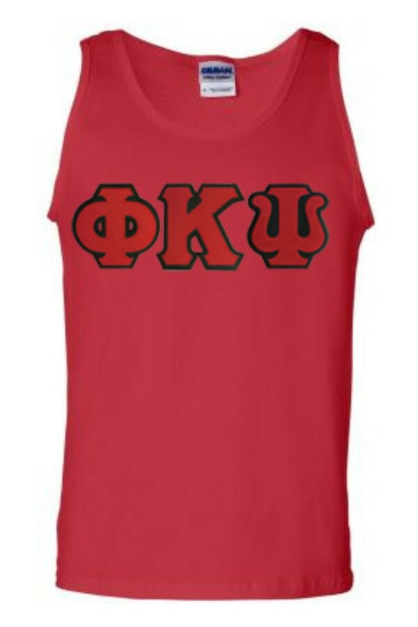 DISCOUNT- Phi Kappa Psi Lettered Tank Top