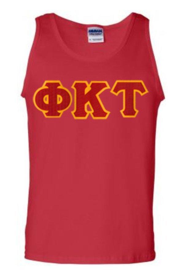 DISCOUNT- Phi Kappa Tau Lettered Tank Top