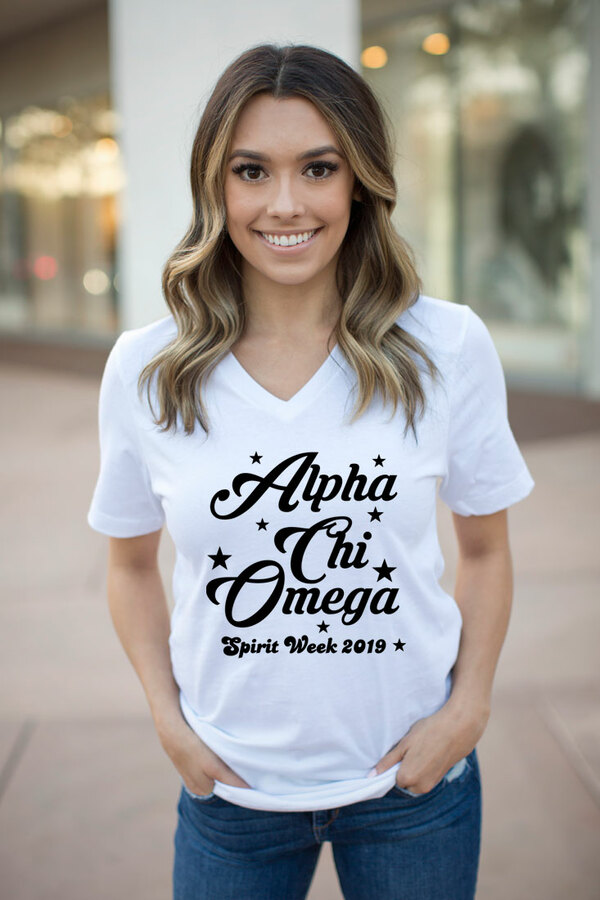 Alpha Chi Omega Spirit Stars V-Neck