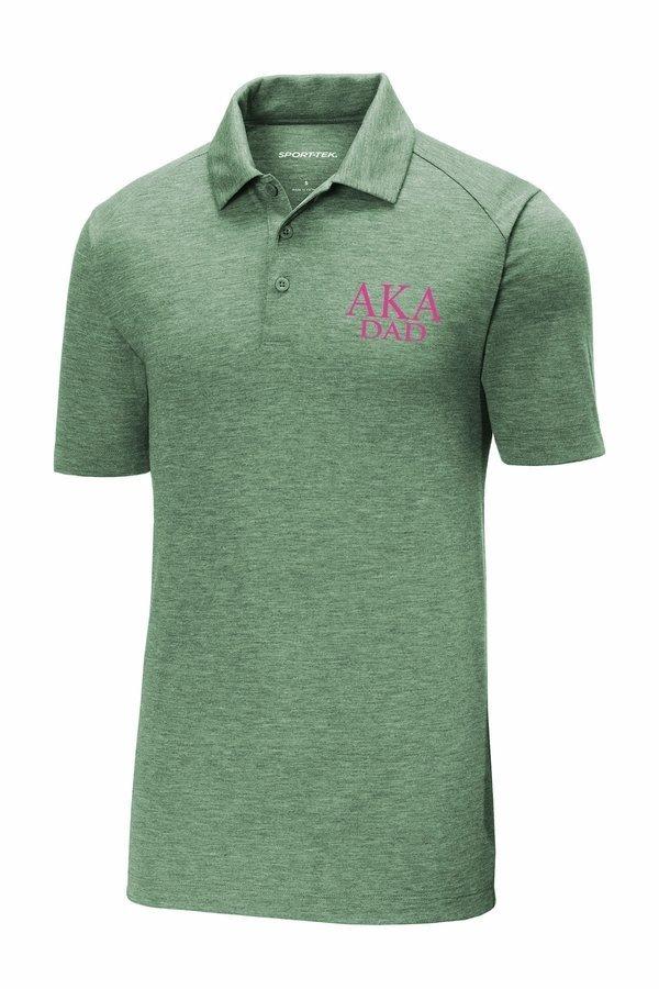 Alpha Kappa Alpha Dad Posicharge Tri Blend Wicking Polo