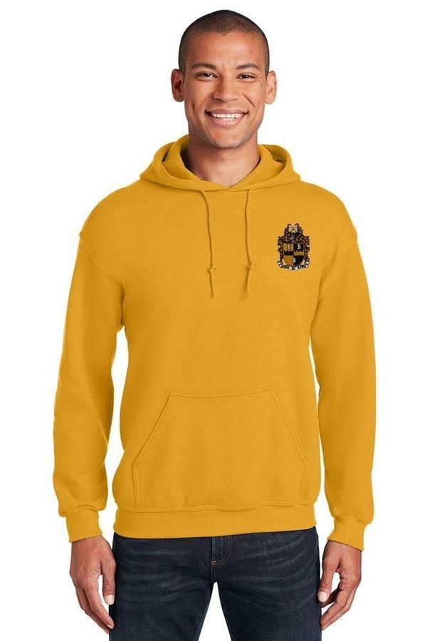 DISCOUNT-Alpha Phi Alpha Crest - Shield Emblem Hooded Sweatshirt