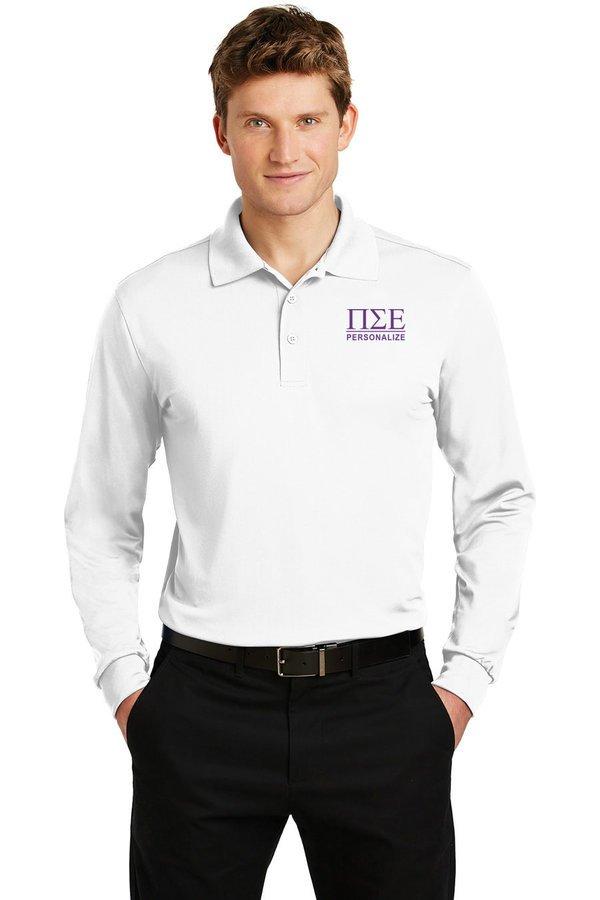 Pi Sigma Epsilon- $35 World Famous Long Sleeve Dry Fit Polo