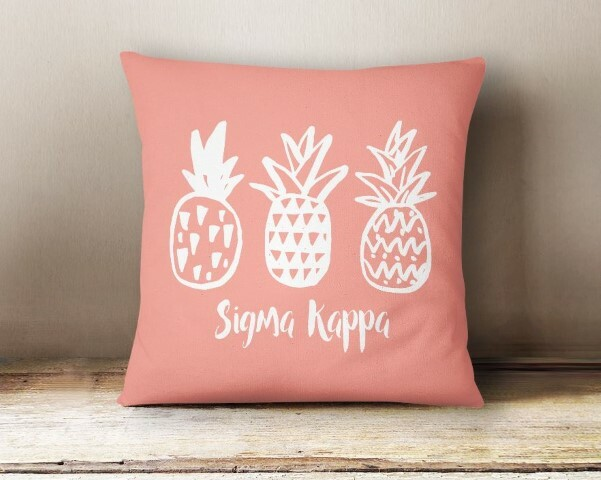 Sigma Kappa Pineapple Pillow