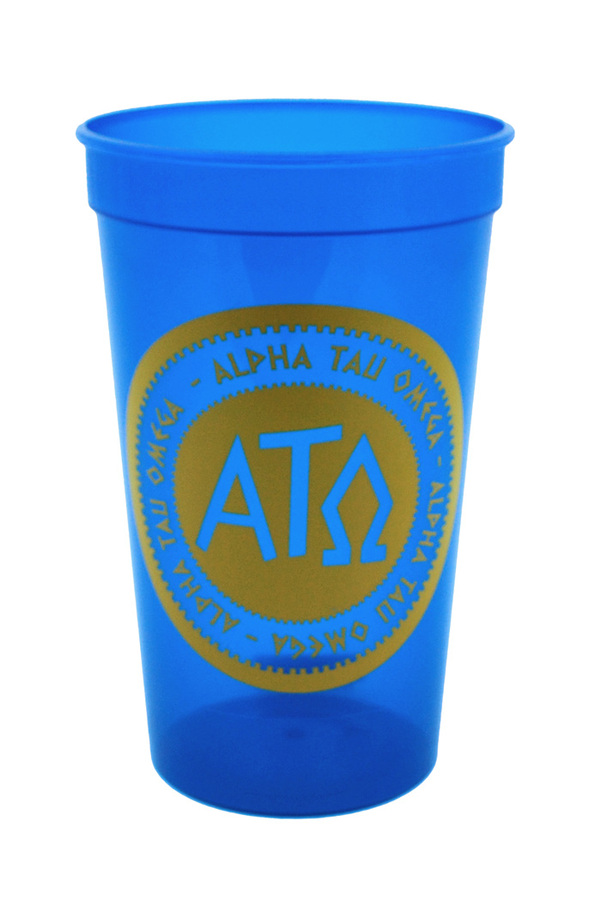 Set of 10 - Alpha Tau Omega Big Ancient Greek Letter Stadium Cup - Clearance!!!