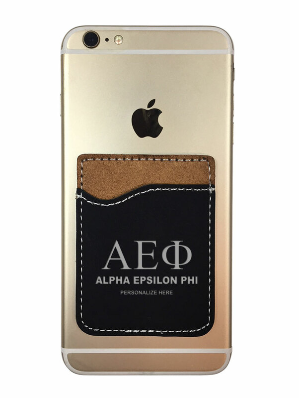 Alpha Epsilon Phi Leatherette Phone Wallet