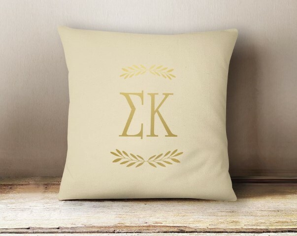 Sigma Kappa Foil Letters Pillow