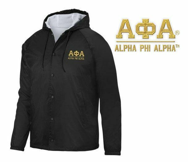 Alpha Phi Alpha Hooded Coach's Jacket