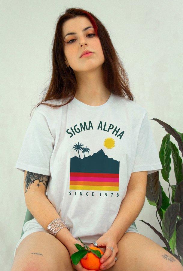Sigma Alpha Tropical Tee - Comfort Colors