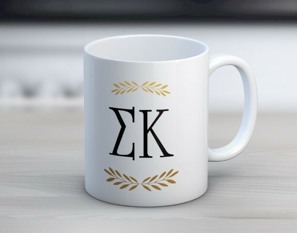 Sigma Kappa Wreath Coffee Mug