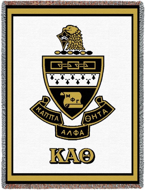 Kappa Alpha Theta Afghan Blanket Throw