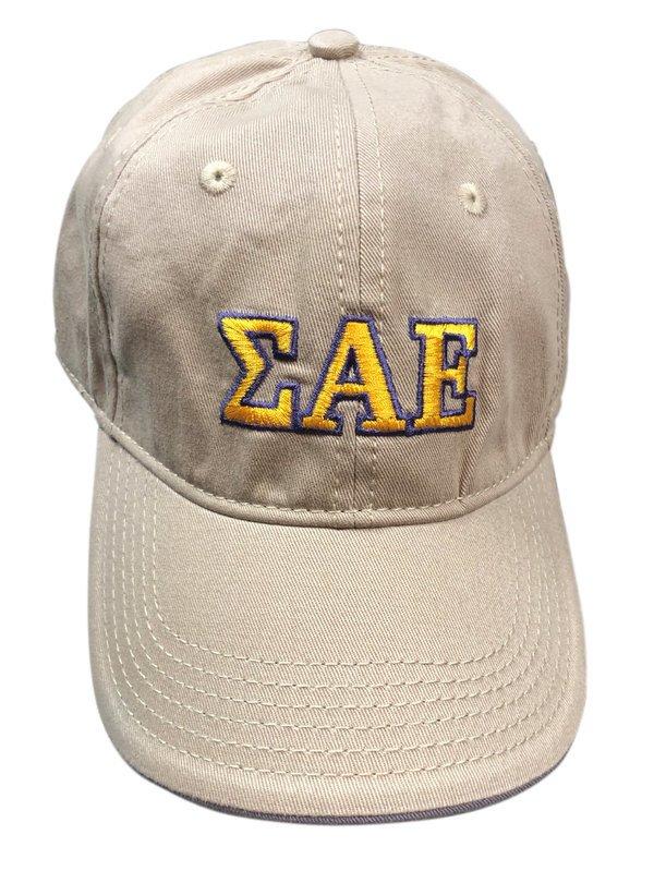 Fraternity Khaki Lettered Hat