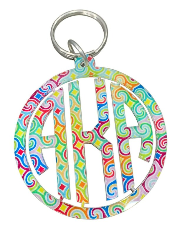 Sorority KC Swirl Keychain
