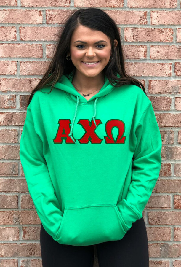 Fraternity & Sorority Lettered Hoodie - Only $29.95