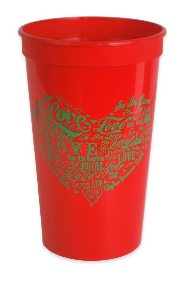 Alpha Gamma Delta Giant Plastic Cup