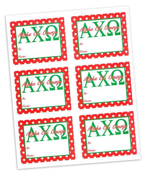 Alpha Chi Omega Sorority Gift Labels