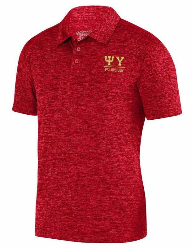 Psi Upsilon Greek Letter Intensify Heather Sport Polo