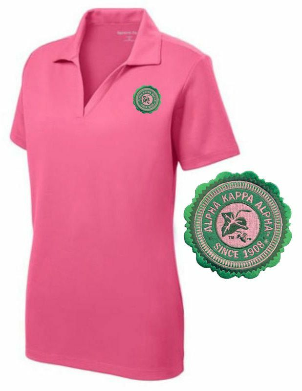 DISCOUNT-Alpha Kappa Alpha Patch Seal Polo