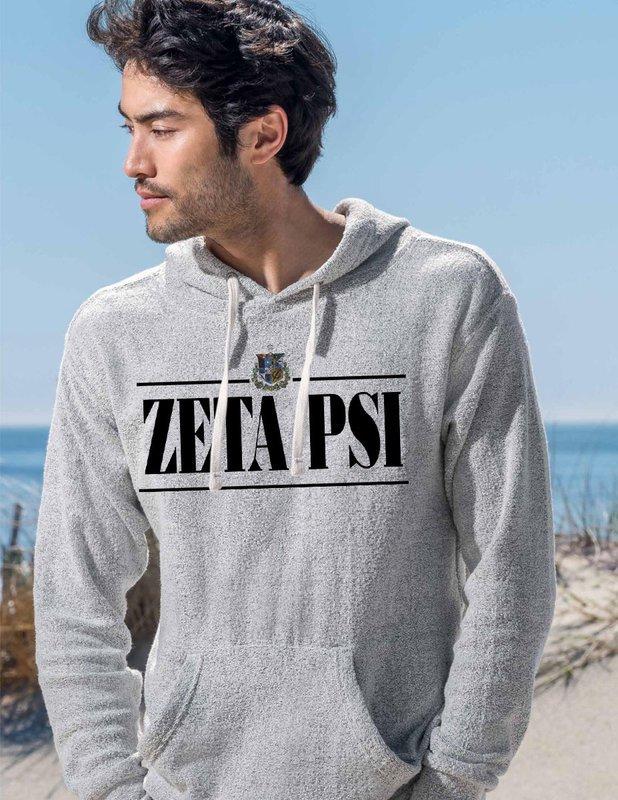 Zeta Psi Line Crest Lucas Loop Fleece Hood